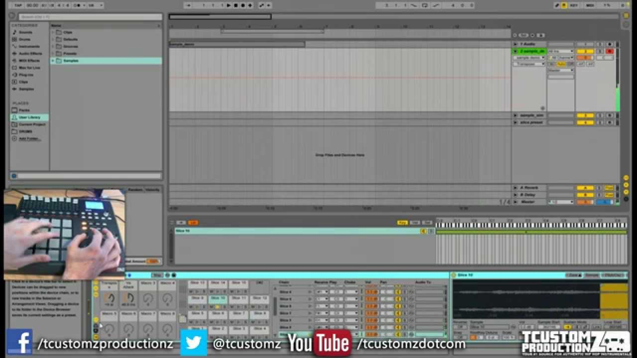 How to sample in ableton live 9 tutorial (part 3) akai mpd32.
