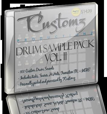 TCustomz Drum Sample Pack Vol  2 (Digital Download)