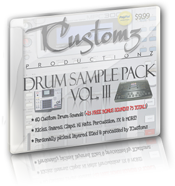 tcustomz drum sample pack vol 3 digital download. Black Bedroom Furniture Sets. Home Design Ideas
